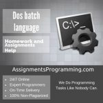 Dos batch language