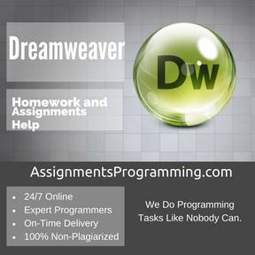 Dreamweaver Assignment Help