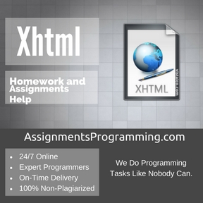 Xhtml Assignment Help